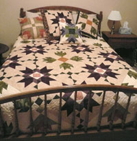 Flannel bed quilt