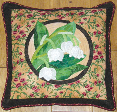 lily of valley cushion